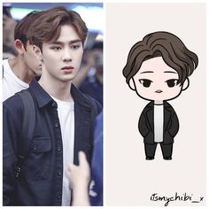 Image may contain: 1 person Korean K Pop, Korean Art, Nct Kun, Kpop Drawings, Zen, 2d Character, Pop Dolls, Kpop Fanart, Nct Dream