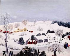 Grandma Moses - her palette is so distinctive - best appreciated by seeing her actual work