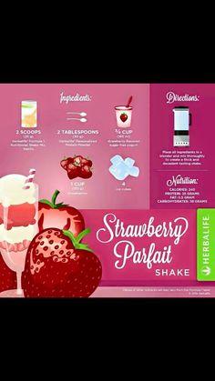 Strawberry parfait Herbalife shake recipe