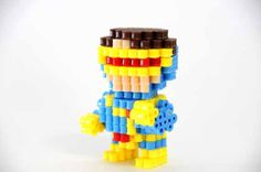 3D Marvel X-Men Cyclops Perler Beads figure by ToroKuro