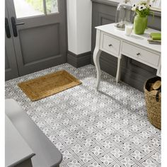 Image for Floor Tile Laura Ashley The Heritage Collection Mr Jones Charcoal 331mm x 331mm LA52000