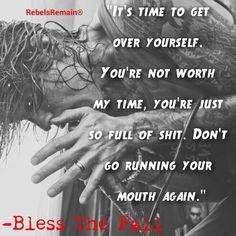 Blessthefall on Pinterest | Beau Bokan, Music Lyric Quotes ...