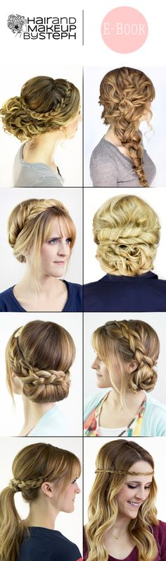 Hair and Makeup by Steph:  Signature Styles E-Book.  $10 for 23 hair tutorials.
