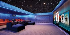 Home theater lighting is essential in forming a unique atmosphere in that space. Home theater lighting consists of anything. Home Theater Lighting, Home Lighting Design, Home Theater Setup, At Home Movie Theater, Home Theater Rooms, Home Theater Seating, Home Theater Design, Cinema Room, Cinema Theater