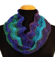 Crochet this cowl using Mary Maxim Prism yarn.