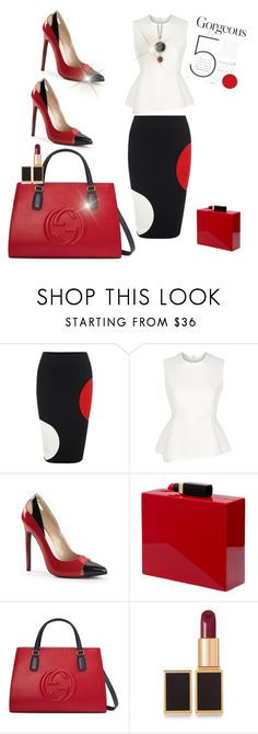 Thursday night  in Red & Black by Diva of Cake featuring mode, Alexander Wang, Alexander McQueen, Gucci, Lulu Guinness and Tom Ford