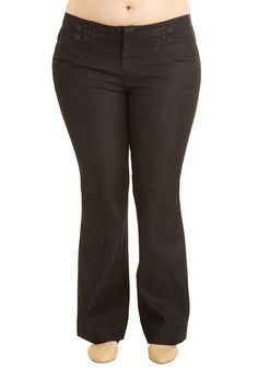 Glee for Yourself Jeans in Plus Size. Slip into these black jeans for your chicest ensemble yet! #black #modcloth
