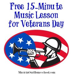 Free Music Lesson for Veterans Day. Use this quick and easy music lesson to help your kids understand the meaning of Veterans Day . Veterans Day Songs, Free Veterans Day, Veterans Day Activities, Music Lessons For Kids, Music Lesson Plans, Piano Lessons, Kids Music, Teaching Music, Learning Piano