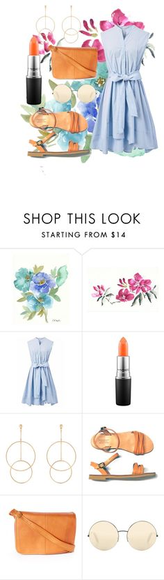 """""""Flowers"""" by barbara-lancianese ❤ liked on Polyvore featuring Chicwish, MAC Cosmetics, Accessorize, Le Donne and Victoria Beckham"""