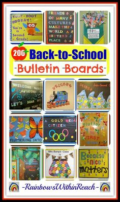 A Collection of OVER 200  Back-to-School Themed Bulletin Boards and Decorated Classroom Doors at RainbowsWithinReach
