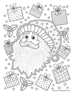 12 Gorgeous And Fairly Easy Christmas Adult Coloring Pages Free To Print Color