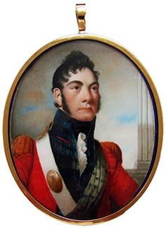 An Officer of the 42nd Regiment of Foot, The Royal Highlanders,  by Alexander Gallaway, signed & dated Edinburgh, 1809. Portrait Miniature.