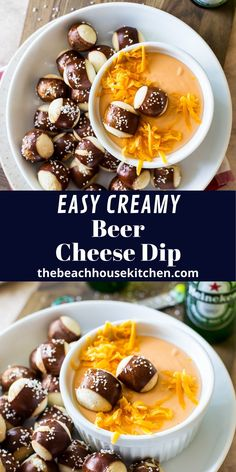 This Easy Creamy Beer Cheese Dip comes together in no time and is the perfect comfort food for your next football party!
