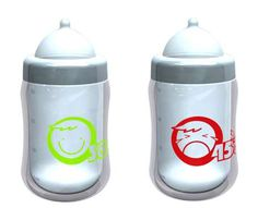 Temperature-Sensitive Baby Bottles  Thermochromic Ink is Green When Milk is Warm, Red When It's Hot
