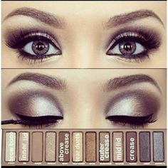Naked 2 palette for tan skin? ❤ liked on Polyvore featuring beauty products