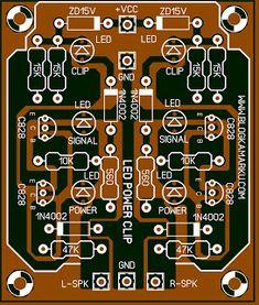 Cara Membuat Led Signal Clip dan Indicator amplifier Kita hanya membutuhkan beberapa komponen saja dan hanya menggunakan transistor sebagai komponen aktif nya dengan type C828 atau anda bisa menggantinya dengan seri persamaan yang lain nya,ada beberapa kendala dari sahabat yang sudah membuatnya dari rangkaian ini dan tidak berjalan sebagaimana mestinya,itu di karenakan hanya persoalan simple yaitu terbalik masang diode LED nya Electronics Projects, Electronic Circuit Projects, Diy Electronics, Electronics Accessories, Audio, Circuit City, Diode Led, Circuit Board Design, Diy Amplifier