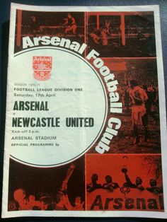 Arsenal v Newcastle United Football Programme 17/04/1971 Listing in the First Division Fixtures,1970-1979,League Fixtures,English Leagues,Football (Soccer),Sports Programmes,Sport Memorabilia & Cards Category on eBid United Kingdom