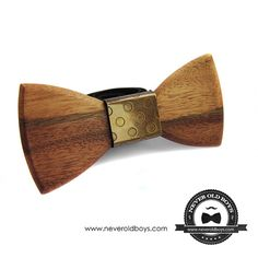 Wood Metal Bow Tie Olympia by NeverOldBoys on Etsy