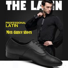 Professional Latin Dance Shoes For Men Heel Height 2.5cm Tango Shoes/Jazz Shoes/ Salsa shoes