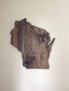 Wisconsin Sign. Large State Sign. Rustic Home Decor. Wisconsin