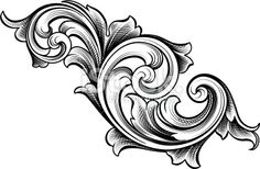 Flowing Scrolls Acanthus