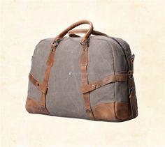 Canvas-and-Leather-Weekender-Bag-3 Rucksack Bag, Canvas Shoulder Bag, Laptop, Weekender, Leather, Bags, Check, Handbags, Laptops