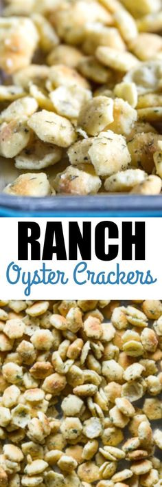 These easy Ranch Oyster Crackers are no bake, full of flavor, and INSANELY addictive! Crackers tossed in butter and spices, you can't go wrong with that!