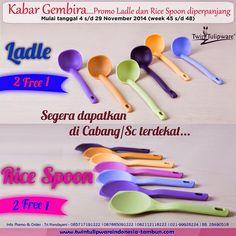Promo 2 Free 1 : Ladle & Rice Spoon