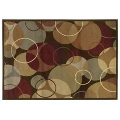 Campbell Overlapping Circles Area Rug 8x10 item #119847