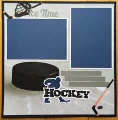 Premade Hockey Scrapbook Page Hockey by PaperPrettiesandMore