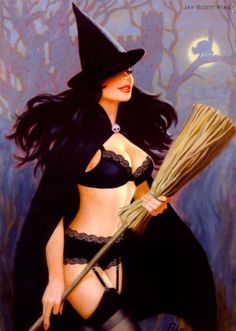 A favorite witch pinup illustration!
