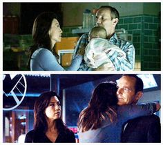 May, Coulson, and Skye - Skye's worst nightmare was that Coulson and May would abandon her.
