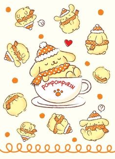 #PomPomPurin winter joy ♪(*^^)o∀*∀o(^^*)♪
