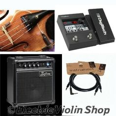 Turn your acoustic violin into an electric with this all-inclusive pickup/amp/cables/effects bundle from Electric Violin Shop! Violin Pickup, Violin Shop, Electric Violin, Marshall Speaker, Cello, Pick Up, Acoustic, Packaging, Kustom