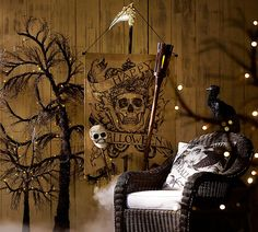Create a creepy scene for Halloween.