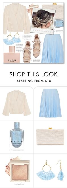 """""""#84"""" by just-a-girl-with-thoughts ❤ liked on Polyvore featuring Alice + Olivia, Prada, Edie Parker, Polaroid, Taolei and Gucci"""