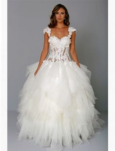 Pnina Tornai: Sweetheart Ball Gown in Tulle