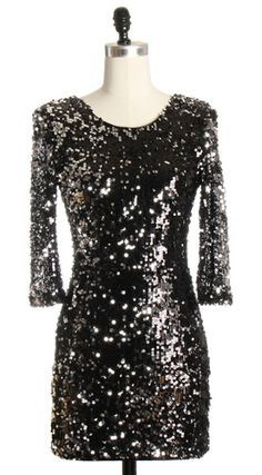 Never too early to find a new years even dress - Black Sequin Party Dress