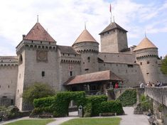 Chillon Castle view from courtyard