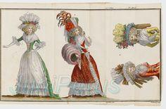 Cabinet des modes CABINET DES MODES, OU LES MODES NOUVELLES. PARIS, BUISSON, 1785-1788