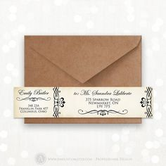 Printable Wrap Around Address Labels EDITABLE Instant by AmeliyCom, $10.00