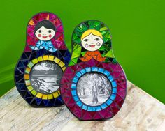 Nesting Doll Mosaic Photo Frames | How ridiculously cute are these?!