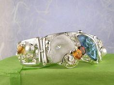 Gregory Pyra Piro #Armband Sterlingsilber und Gold mit Edelsteinen Unikat Nr. 8032