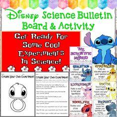 Disney Bulletin Boards, Science Bulletin Boards, Science Boards, Bulletin Board Letters, Classroom Bulletin Boards, Classroom Themes, Classroom Organization, Disney Classroom, Science Classroom