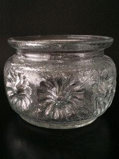 SKLO UNION Pavel Panek Pressed Glass Jardiniere Rosice   Etsy Smart Packaging, Modern Ceramics, Mid Century Modern Design, Pressed Glass, Glass Design, Mid-century Modern, Vase, Vases, Jars