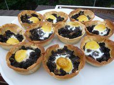 Tartaletas de morcilla con huevo de codorniz | Magia en mi cocina | Recetas fáciles de cocina paso a paso