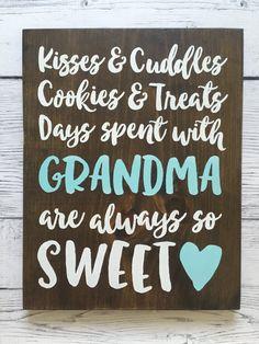 Personalized Wood Sign Grandparent/Mother/Grandma