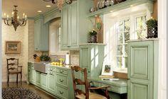 Vintage+Kitchen+Decor   ... coloured chalks kitchen,retro kitchen units,custom kitchen cabinets