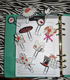 Handmade Wedding Planner Bookmark Paperclips - Set of 10! by LuminaSpiritCreation on Etsy