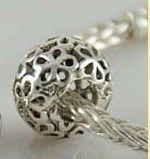 FLOWERS Sterling Silver Bead Charm fit ALL popular by floridabeads, $14.99